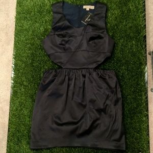 Dark Navy dress with side cut outs!